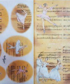 Hârtie de orez – balet&music – DECOMANIA – 35×50 cm