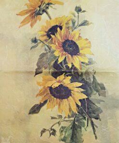 Hârtie de orez – floarea soarelui – 35X50 cm
