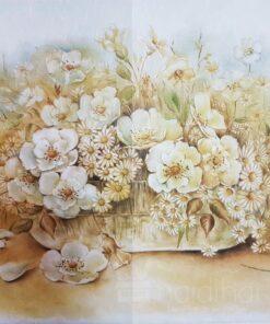 Hârtie de orez DECOMANIA – flori – 35X50 cm