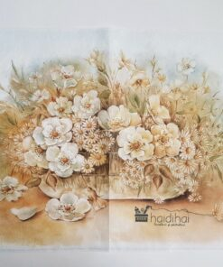 Hârtie de orez - motiv floral - 35x50 cm - cod 5173
