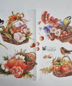 Hârtie de orez - motiv floral - 35x50 cm - cod 5193 haidihai