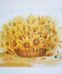 Hârtie de orez - motiv floral - 35x50 cm - cod 5214 haidihai