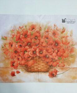 Hârtie de orez - motiv floral - 35x50 cm - cod 5215