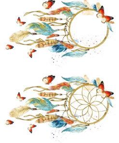 Hârtie deccoupage -Dreamcatcher - A3