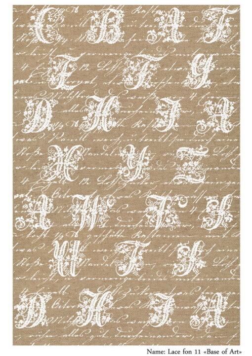 Hârtie decoupage - Lace fon 11