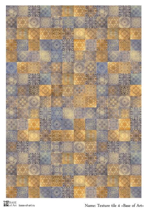 Hârtie decoupage -Texture tile 4