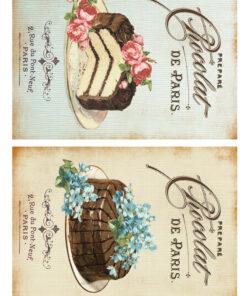 Hârtie decoupage prăjituri Sweets 14