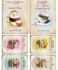 Hârtie decoupage prăjituri Sweets 4.