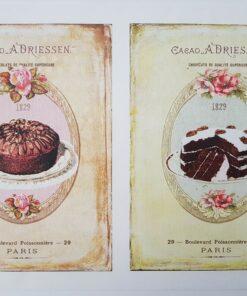 Hârtie decoupage prăjituri sweets 17..