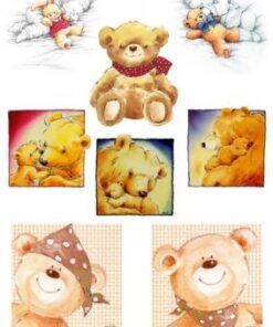 Hârtie decoupage ursulet Teddy