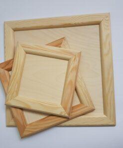 Ramă pătrată din lemn natur
