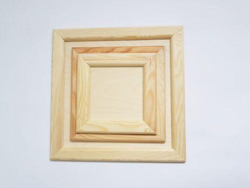 Ramă din lemn natur - pătrată - mini 2