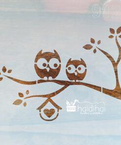 Sablon – bufnita – owl – 30×30 cm