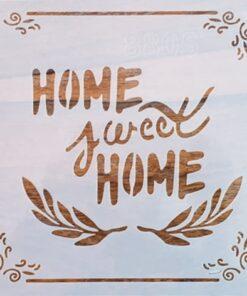 Sablon – home sweet home 2 – 20×20 cm