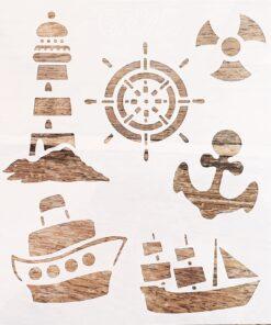 Sablon – tematica marina – 20×20 cm