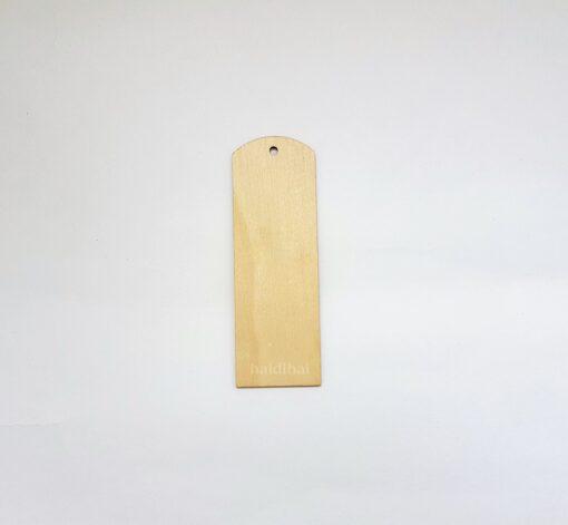 Semn de carte din lemn - nedecorat - h 15 cm 1