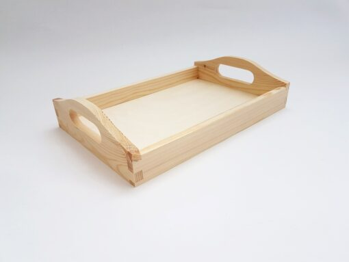 Tavă mică din lemn natur – blank – 30x20x2.5 cm 1
