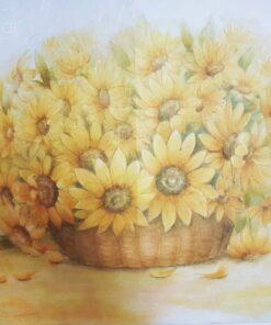 Hârtie de orez DECOMANIA – coș cu flori – 35×50 cm