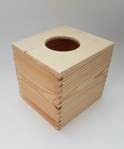 Cutie din lemn - suport pentru servetele formă pătrată