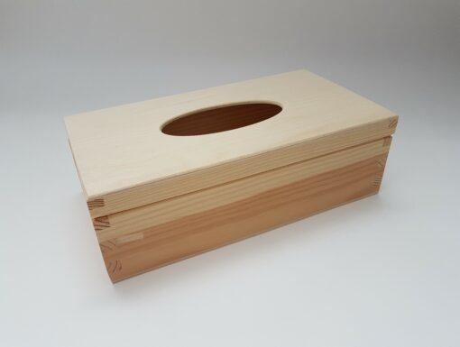 Cutie din lemn suport pentru șervețele