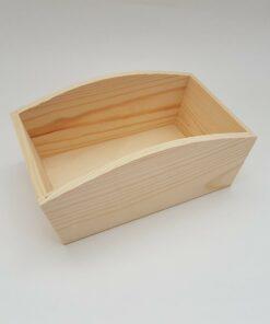 hPO257d Coș din lemn pentru decorat