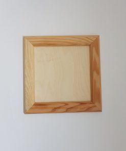 Rama din lemn natur, pătrată mică