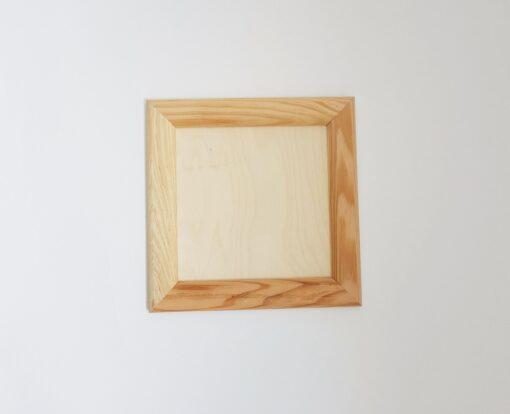 Ramă din lemn natur - pătrată - mini 1