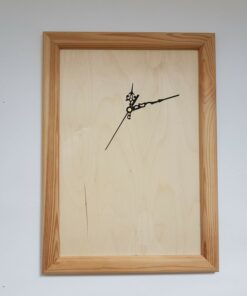 ceas rama din lemn natur
