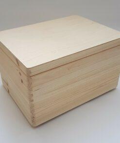 Cutie de depozitare mare - din lemn, nedecorată