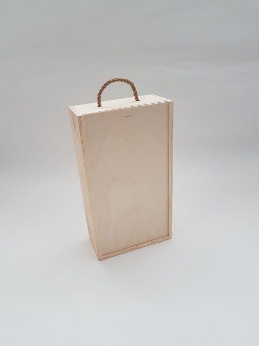 Cutie de vin - capac glisant - 2 sticle