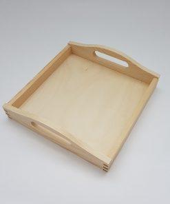Tavă lemn - pătrată - pentru decorat