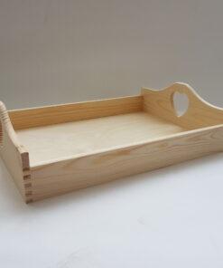 Tavă lemn blank cu inimioară