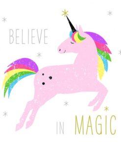 Servetel - Believe in magic unicorn - 33x33 cm
