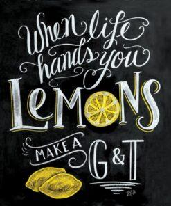 Servetel - Blackboard Lemons 33x33 cm