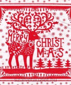 Servetel - Merry Deer - 33x33 cm