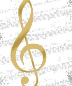 Servetel decorativ - I Love Music - 33x33 cm