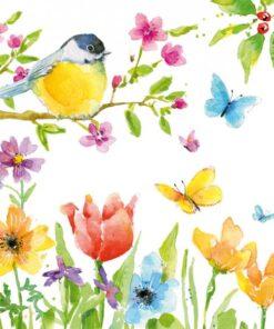 Servetel spring bird - 33x33 cm