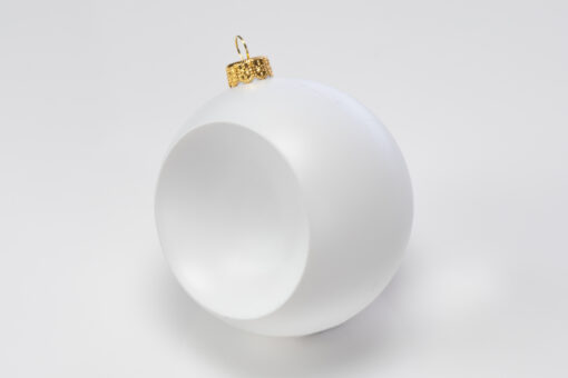 Glob concav – alb – diametru 12 cm