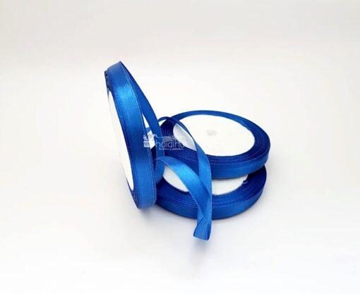 Rola panglica satin 1 cm x 22 m albastru