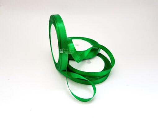 Rola panglica satin 1 cm x 22 m verde