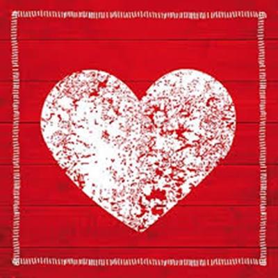 Servetel - Fashion Heart - 33x33 cm
