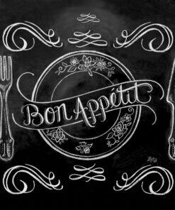 Servetel - Blackboard Apetit - 33x33 cm