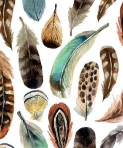 Servetel - Aquarell Feathers - 33x33 cm