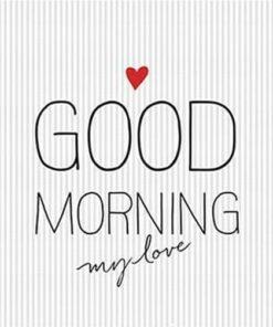 Servetel - Good Morning Love - 33x33 cm