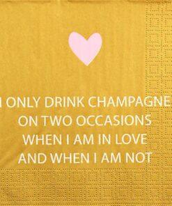Servetel - Only Champagne - 33x33 cm