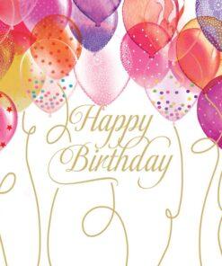Servetel - Birthday Balloons - 33x33 cm