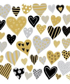Servetel - Golden Hearts - 33x33 cm