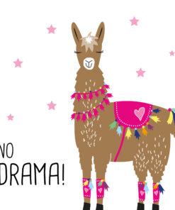 Servetel - Drama Llama - 33x33 cm