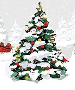 Servetel - White Christmas Tree - 33x33 cm