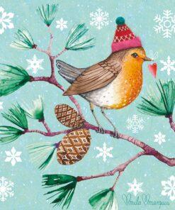 Servetel - Winter Bird - 33x33 cm